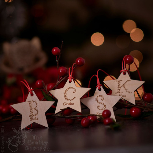 Personalised Starry Letter Star Tag