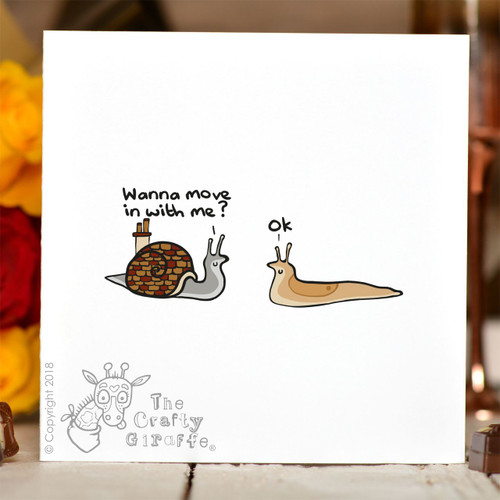 Wanna move in with me Card