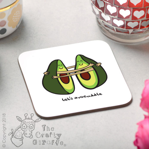 Let's Avocuddle Coaster