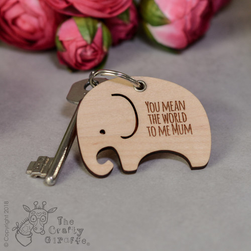 Personalised Elephant Keyring