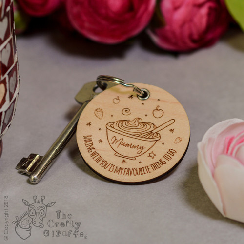 Personalised Baking with you Keyring