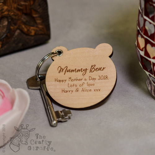 Personalised Bear Keyring