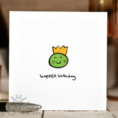 HapPEA Birthday Card