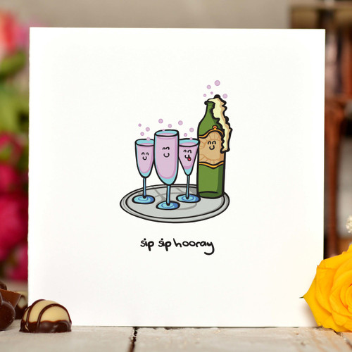 Sip Sip Hooray Card
