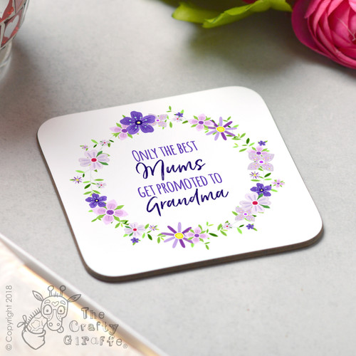 Personalised Only the best Mums Coaster