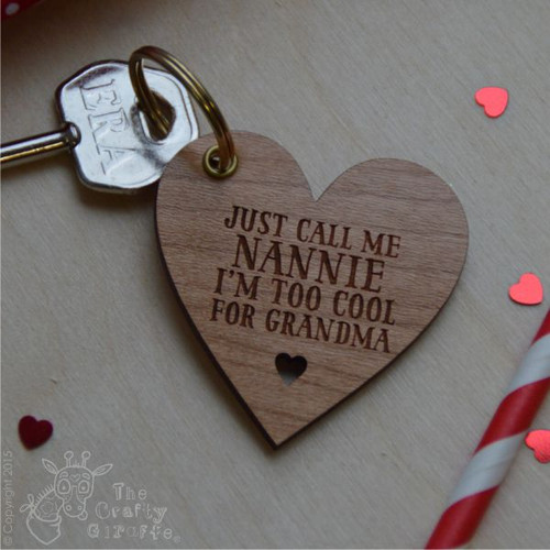 Personalised Heart Shape Keyring