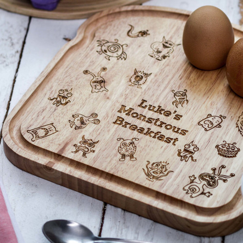 Personalised Breakfast Egg Board - Monster