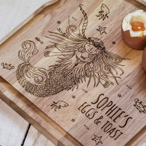 Personalised Breakfast Egg Board - Mermaid