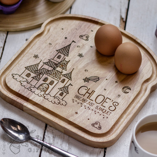 Personalised Breakfast Egg Board - Princess Castle