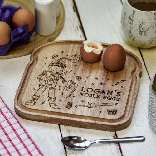 Personalised Breakfast Egg Board - Knight