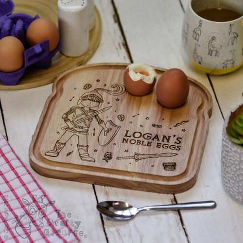 Personalised Breakfast Egg Board - Knight