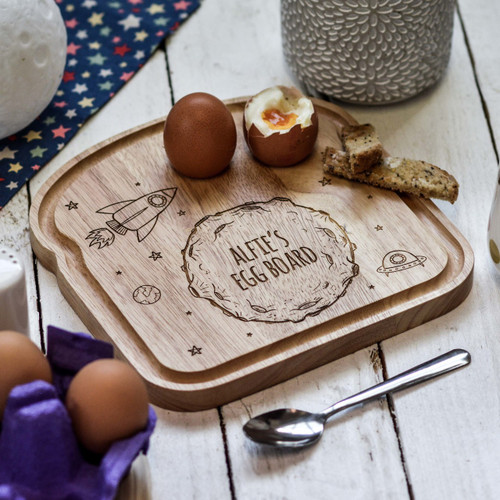 Personalised Breakfast Egg Board - Moon