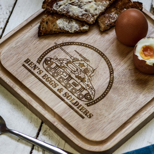 Personalised Breakfast Egg Board - Tank