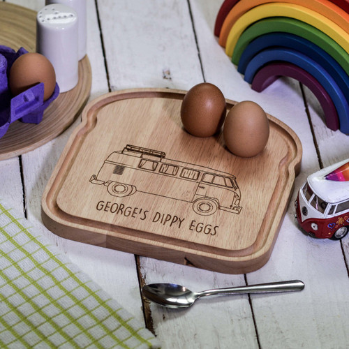 Personalised Breakfast Egg Board - Campervan