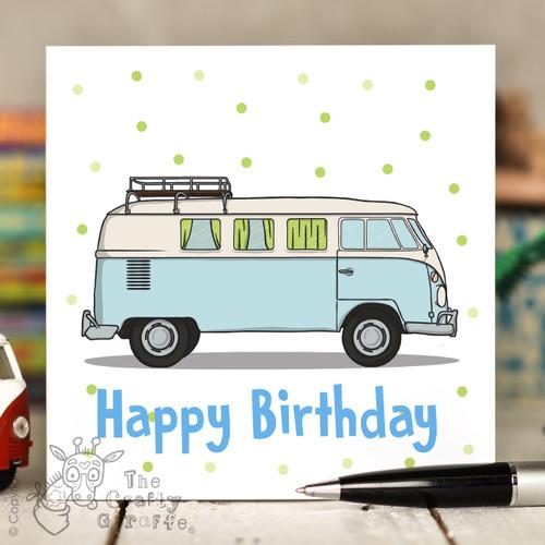 Campervan Birthday Card