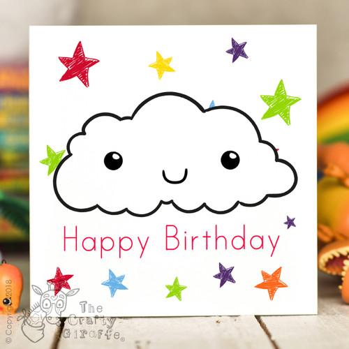 Cloud Birthday Card