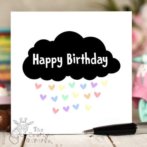Black Cloud Birthday Card