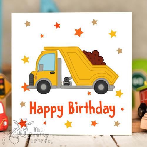 Dumper Truck Birthday Card