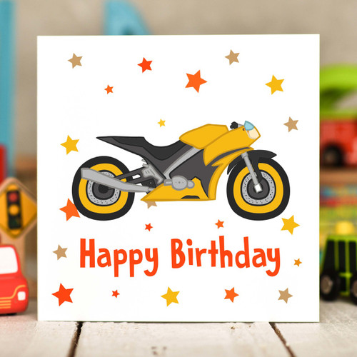 Motorbike Birthday Card The Crafty Giraffe