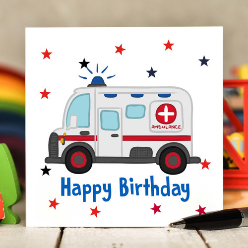 Ambulance Birthday Card