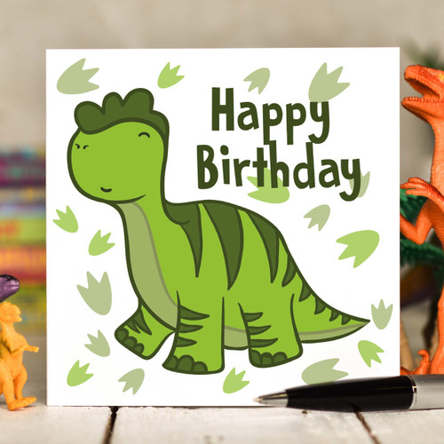Diplodocus Birthday Card