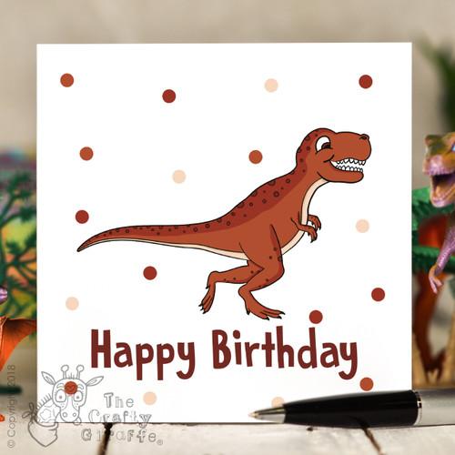 T-Rex Birthday Card