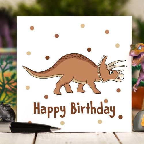Tricertatops Birthday Card