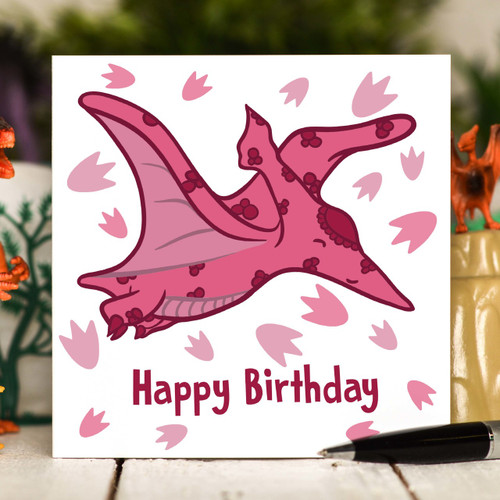 Pterodactyls Birthday Card