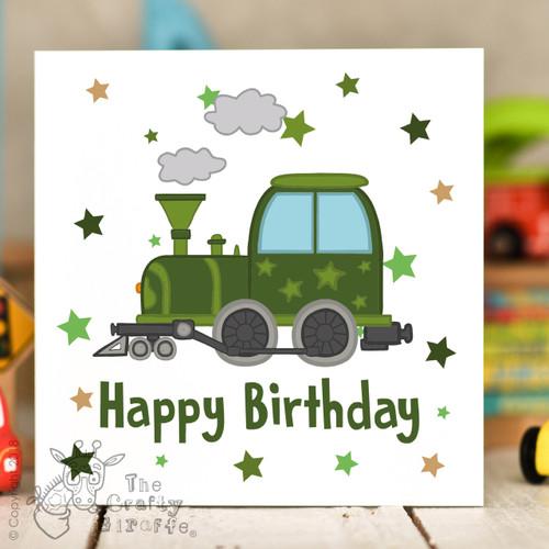 Train birthday card the crafty giraffe train birthday card bookmarktalkfo Image collections