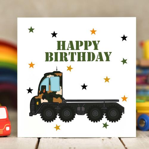 Transporter Birthday Card