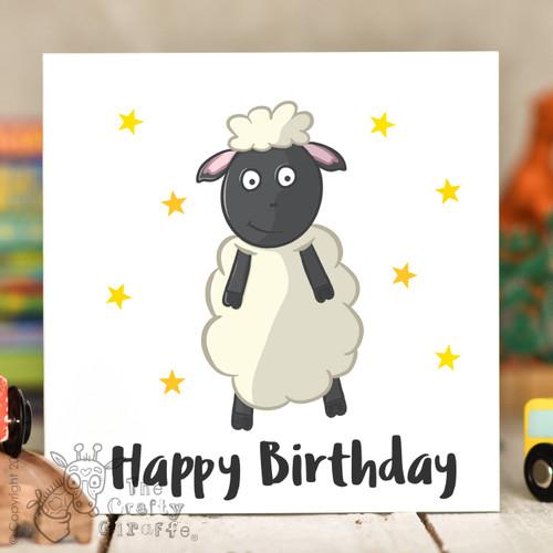 Sheep Birthday Card The Crafty Giraffe