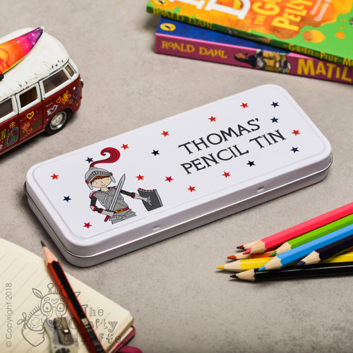 Personalised Knight Pencil Tin