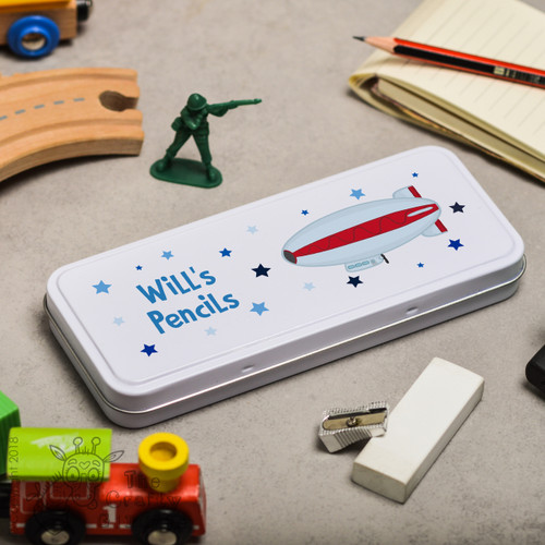 Personalised Blimp Pencil Tin