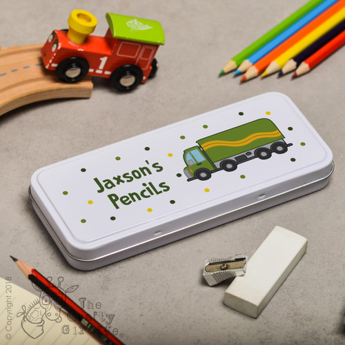 Personalised Lorry Pencil Tin