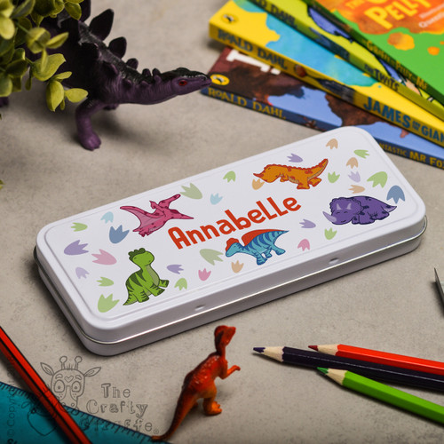 Personalised Dinosaur Pencil Tin