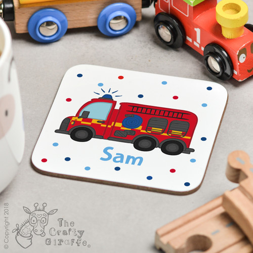 Personalised Fire Engine Coaster