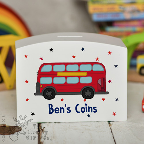 Personalised Bus Money Box