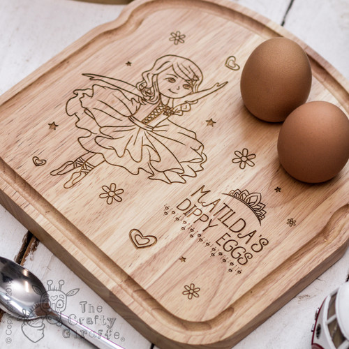Personalised Breakfast Egg Board - Ballerina
