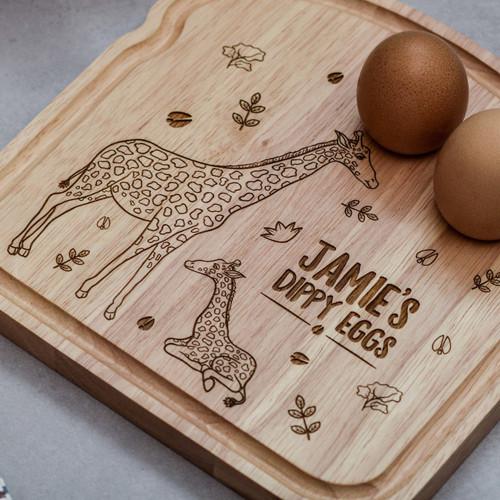 Personalised Breakfast Egg Board - Giraffe