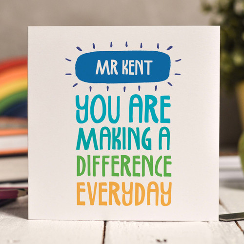 Personalised You are making a difference Card