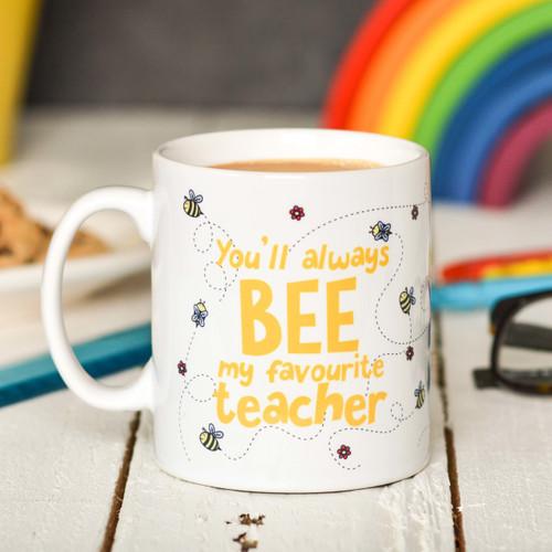 Personalised You'll always bee my favourite teacher Mug