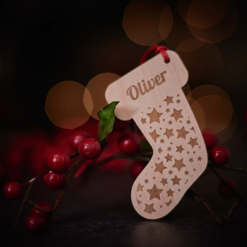Personalised Starry Stocking Decoration