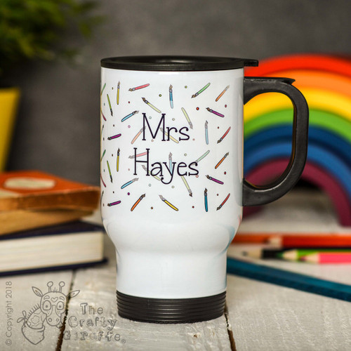 Personalised Paintbrush Travel Mug