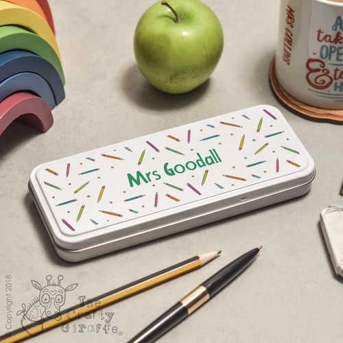 Personalised Pencil Pencil Tin