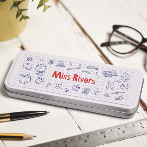 Personalised Doodle Pencil Tin