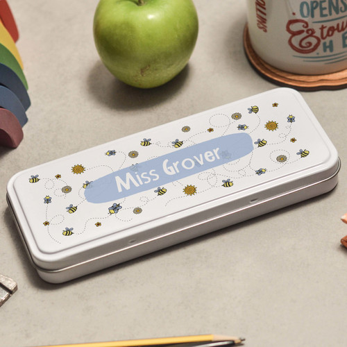 Personalised Bees Pencil Tin