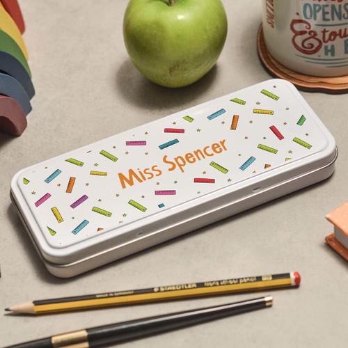 Personalised Ruler Pencil Tin