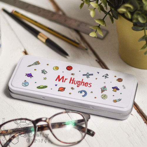 Personalised Space Pencil Tin