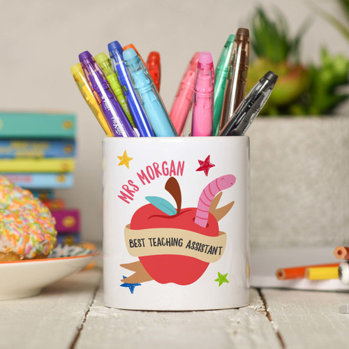 Personalised Best Teaching Assistant Pencil Pot