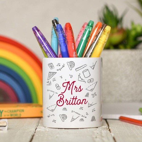 Personalised Maths Pencil Pot